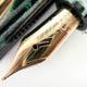 Omas Arte Italiana Celluloid Arco Green Extra Gold Finish | オマス
