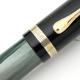 Pelikan 100N Black/Green MBL HF Nib | ペリカン