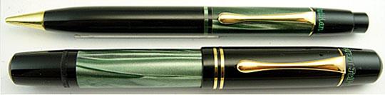 Pelikan 100N &200 Pencil Black/Green made in Mirano
