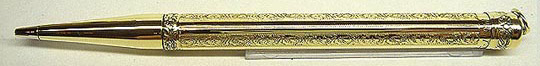 Montblanc 18k Rolled Gold Engraved Pencil