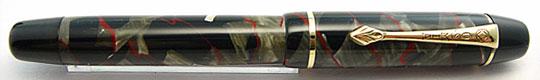 Osmia No.222 Grey & Black Mottled Red Vein