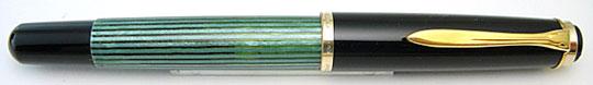 Pelikan 400N Black/Green Stripe