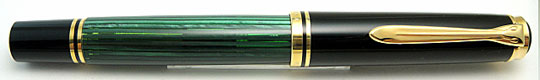 Pelikan M800 Black/Jade Green Old Type E/N Imprint Nib
