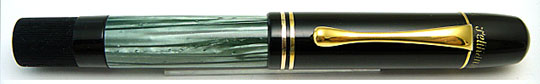 Pelikan 100 Black/Green MBL 2Hole Cap