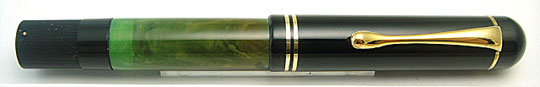 Pelikan 100 Black/Jade Green Short Cap Top