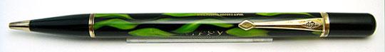 Conway Stewart Nippy Pencil Green&Black Flame