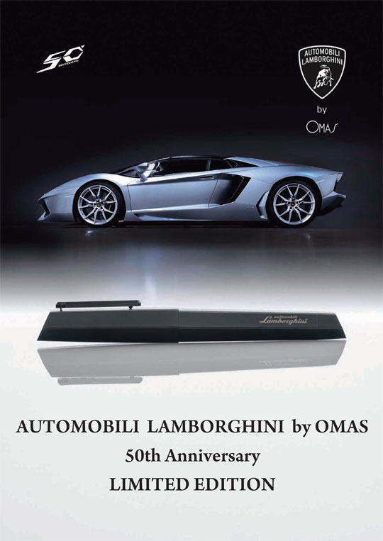 AUTOMOBILI LAMBORGHINI by OMAS 50th Anniversary LIMITED EDITION -NEW-
