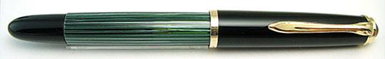 Pelikan 400NN Black/Green Stripe
