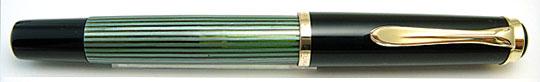 Pelikan 400 Black/Green Stripe