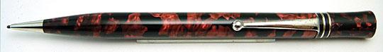 Conway Stewart Duropoint Pencil Red&Black Marble