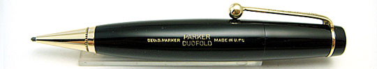 Parker Duofold Vest Pocket Pencil Black