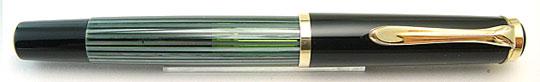 Pelikan 400 Black/Green Stripe Steno