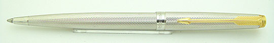 Parker 75 Ball Point Barlay Cone Silver Plate