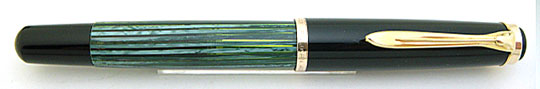 Pelikan 400N Black/Green Stripe