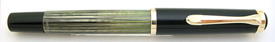 Pelikan 400 Black/Grey Pearl Stripe