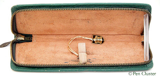 Montblanc Leather Pen Case Green 50s