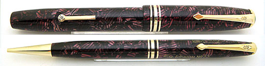 Conway Stewart No.58 & 33 Pencil Red Pearl Hatch Set