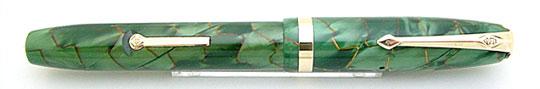 Conway Stewart 84 Green Pearl&Gold Vine MBL