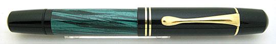 Pelikan 100N Black/Jade Green MBL