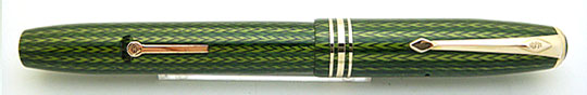 Conway Stewart No.58 Green Herringbone Lever Filler