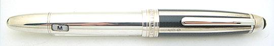 Montblanc Meisterstück Solitaire Silver Fibre Guilloche Le Grand