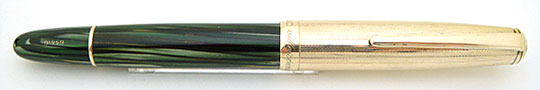 Montblanc 644.G Meisterstuck Rolled Gold Barley/Green Striated