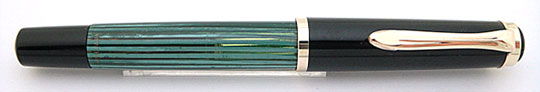 Pelikan 400 Black/Green Stripe
