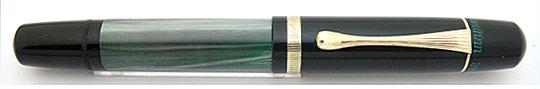 Pelikan 100N Black/Green MBL HF Nib