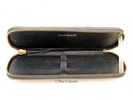 Montblanc Leather Pen Case Navy 50s