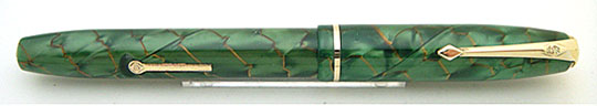Conway Stewart 85 Green Pearl&Gold Vine MBL