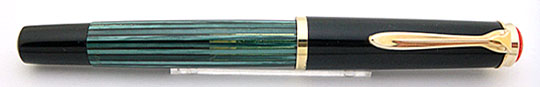 Pelikan 400 Black/Green Stripe Red Top