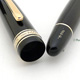 Montblanc 146G Meisterstuck Black 50's Early Type   Montblanc 3-44 Black Blue TOP