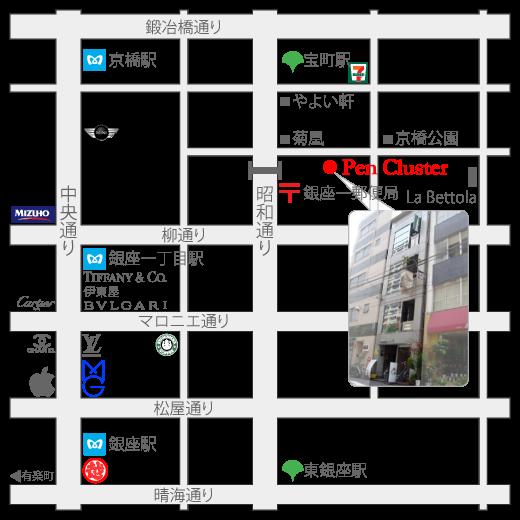 Pen Cluster地図